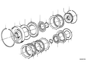 Zf 3hp22 embrayage de frein c/c'