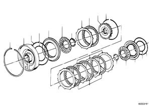 ZF 3HP22 Bremskupplung C/C'