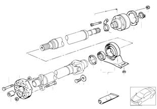 Drive shaft-cen.bearing-const.vel.joint