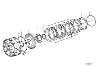 Zf 3hp22 embrayage de frein d