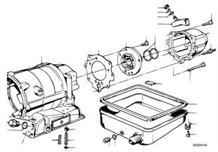 Zf 3hp22 piezas d. caja/carter de aceite