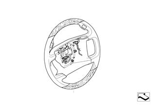 Обод рулевого колеса дерево/кожа