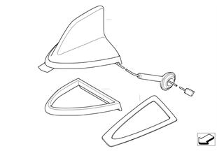 Pezzi singoli d'antenna telef., più bande