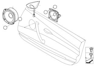 Altoparlante anteriore sist. hifi