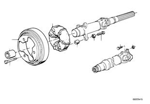 傳動軸安裝件 中間軸承