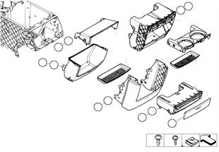 Доп.элементы центральной консоли Зд