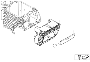 Cup holder retrofit, rear