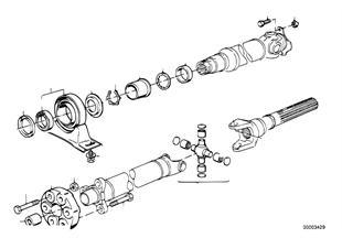 Kardan mili-Şaft takozu/Orta bağlantı