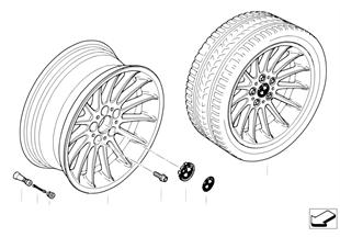 Ζάντα ελαφρ. κράμ. BMW ακτίνες radial 32