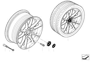 Ζάντα ελαφρ. κράμ. BMW ακτίνες radial 50