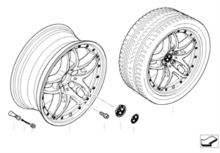 BMW 複合輪雙輪幅 71