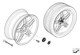BMW 輕質合金輪輞 雙輪輻 125