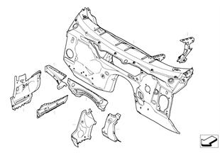 Pared frontal, piezas sueltas