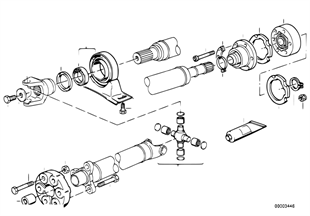 Drive shaft-cen.bearing-const.vel.joint