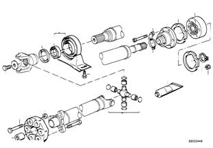 Arbol transm., disco artic./soporte centr