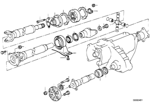 Drive shaft, single components, 4-wheel