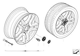 ล้ออัลลอย BMW แบบ V-Spoke130
