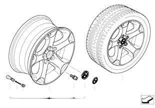 Л/с диск BMW c Y-обр.спицами диз.131