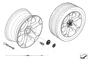BMW LM wiel Y-spaak 131