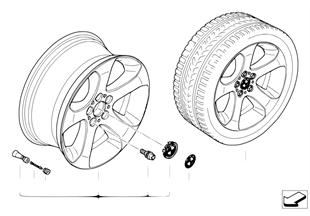 Л/c диск BMW со звездообр.спиц.диз.132
