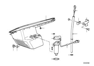 อ่างและตัวแสดงระดับน้ำมันเครื่อง