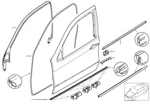 Накладки и уплотнения двери Пд