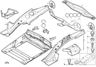 Bagaj tabanı, Montaj parçaları
