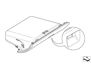 Individual folding compartment, leather