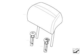 Fotel tylny, zagłówki