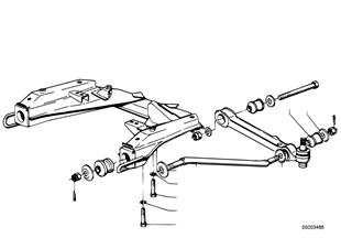 Nosník přední nápravy-táhlo