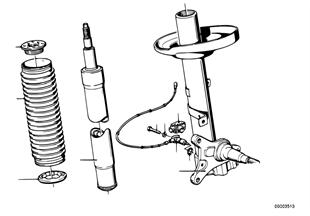 Amortisör kovanı, Ön/Amortisör