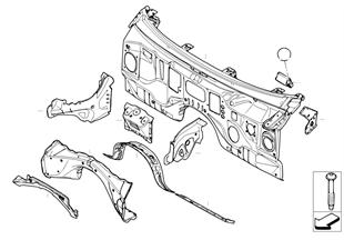 Frontwand, onderdelen