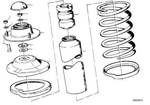Stoedlager/onderlaag voor veren/aanbouwd