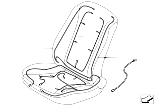 Wiązka przewodów siedzenia tylnego