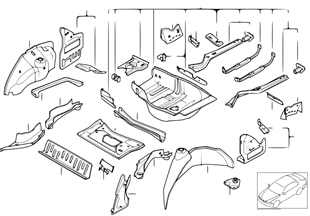 行李箱底板/輪罩 後部