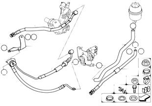 Servodireccion hidraulica-tuberias aceit