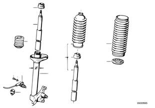 Muelle-amortiguador del./amortiguador