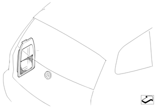 Retrofit: trunk room net left