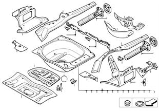 Gepäckraumboden Anbauteile