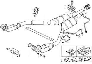 Catalisador/silenciador dianteiro