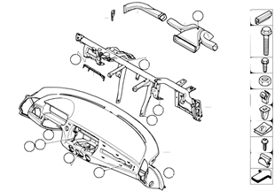 Revest.tablero instrum. tubo portante