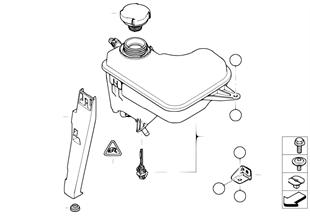 Koelwater expansiereservoir