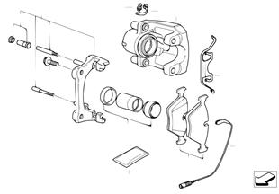 Hamulec przód-okładzina-czujnik