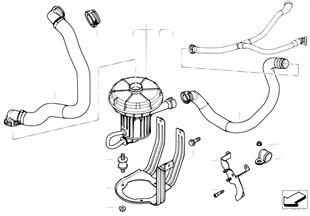Abgasschadstoff-Reduzierung-Luftpumpe