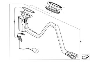 Brandstofpomp/Niveausensor rechts