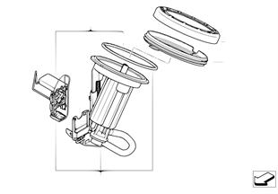 Brandstoffilter /Niveausensor links
