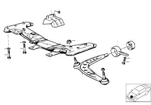 Soporto eje delantero/brazo transversal