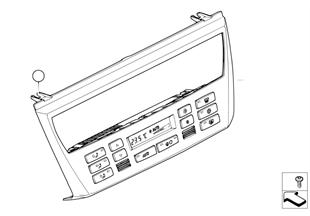 Control unit, automatic air cond., AUC