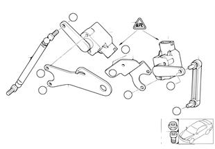 Sensor de regulação do nível do farol