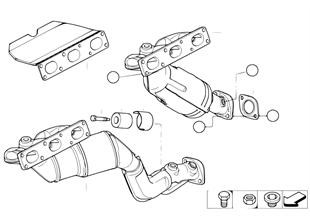Abgaskrümmer mit Katalysator